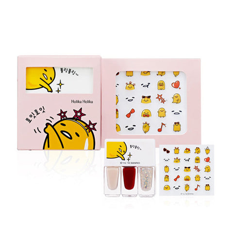 [Holika Holika] Gudetama Ver2 Lzay & Joy Dry Party Up Nail Kit - Cosmetic Love