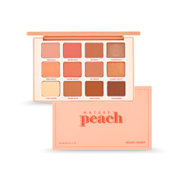[Holika Holika] Piece Matching 12 Shadow Palette #Mature Peach 12g