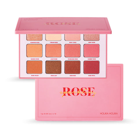 [Holika Holika] Piece Matching 12 Shadow Palette #Sparkling Rose 12g