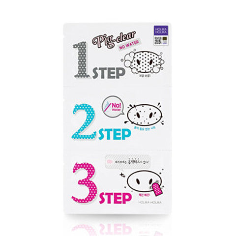 [Holika Holika] Pig Clear Blackhead 3 Step Kit No Water (Nose Pack)