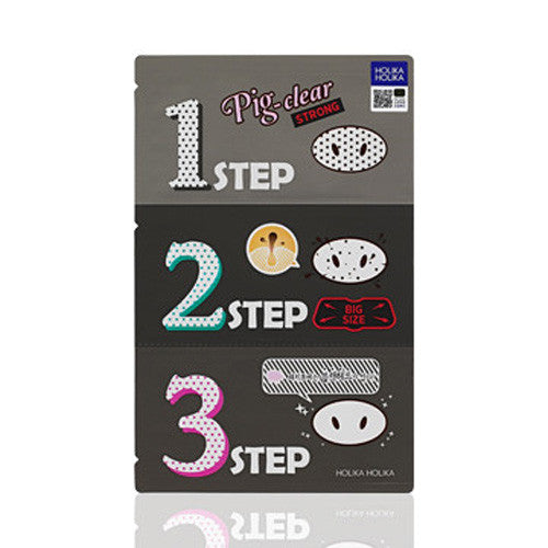 [Holika Holika] Pig Clear Blackhead 3 Step Kit Strong (Nose Pack)