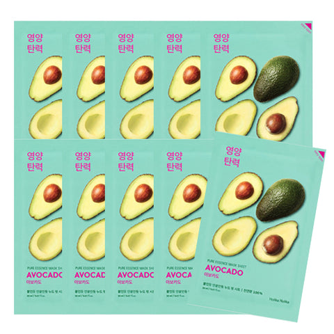 [Holika Holika] Pure Essence Mask Sheet 20ml #06 Avocado x10pcs