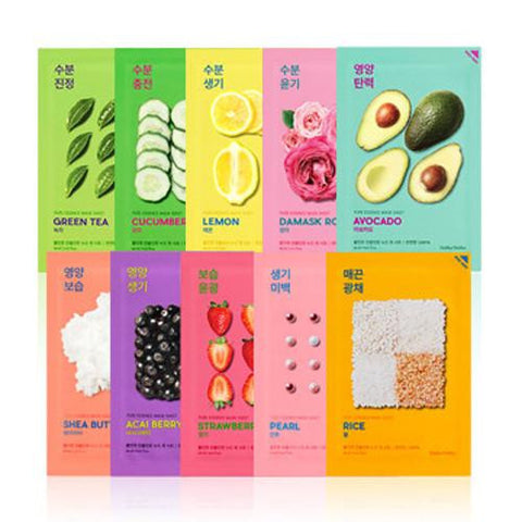 [Holika Holika] Pure Essence Mask Sheet 20ml x 10PCS SET - Cosmetic Love