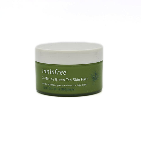 [Innisfree] 3-Minute Green Tea Skin Pack (100ea) 70ml