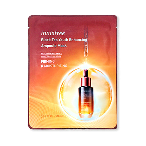 [Innisfree] Black Tea Youth Enhancing Ampoule Mask 28ml