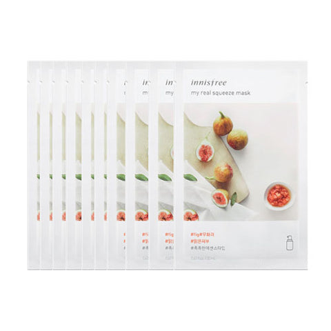 [Innisfree] My Real Squeeze Mask 20ml #Fig x 10PCS