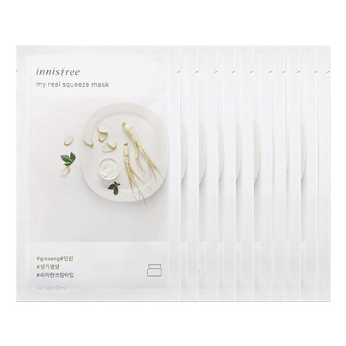 [Innisfree] My Real Squeeze Mask 20ml #Ginseng x 10pcs