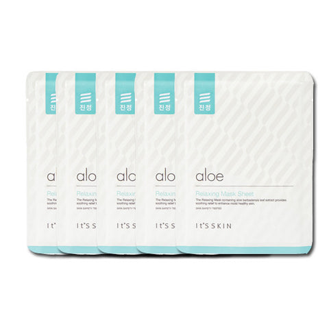 [It's Skin] Aloe Relaxing Mask Sheet 1ea x 5PCS - Cosmetic Love