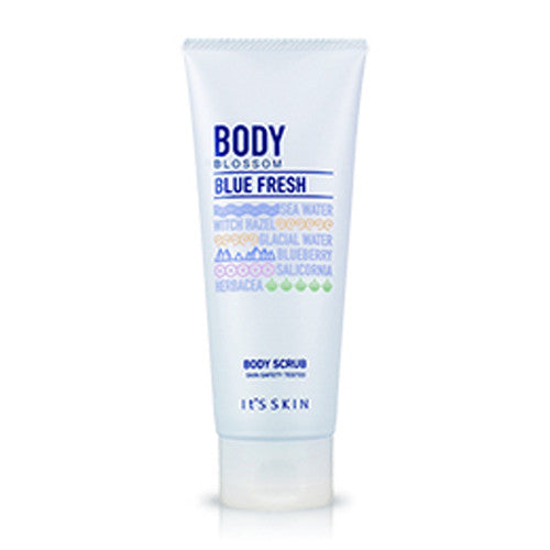 [It's Skin] Body Blossom Blue Fresh Body Scrub 150ml - Cosmetic Love
