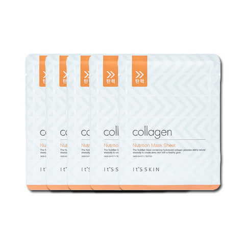 [It's Skin] Collagen Nutrition Mask Sheet 1ea x 5PCS - Cosmetic Love