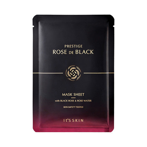 [It's Skin] PRESTIGE Rose De Black Mask Sheet - Cosmetic Love