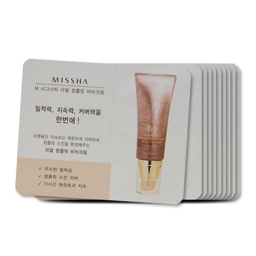 [Sample][Missha] M Signature Real Complete BB Cream SPF25 PA++ #21 x 10PCS - Cosmetic Love