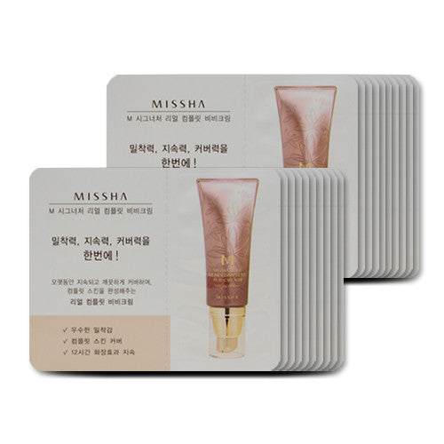 [Sample][Missha] M Signature Real Complete BB Cream SPF25 PA++ #21 x 20PCS - Cosmetic Love