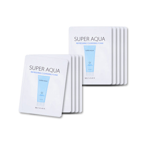 [Sample][Missha] Super Aqua Refreshing Cleansing Foam  x 10PCS - Cosmetic Love
