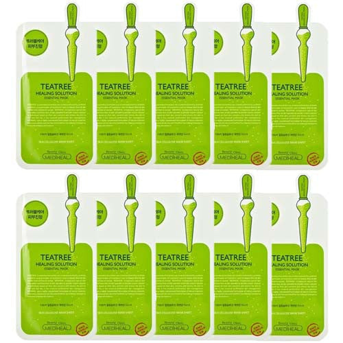 [Mediheal] Tea Tree Healing Solution Essential Mask 25ml x 10PCS - Cosmetic Love