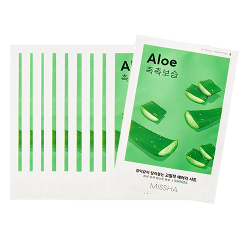 [Missha] Airy Fit Sheet Mask 19g #04 Aloe x 10pcs