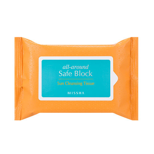 [Missha] All Around Safe Block Sun Cleansing Tissue 115g