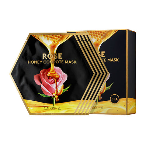[Missha] Rose Honey Compote Mask 27gx5sheets