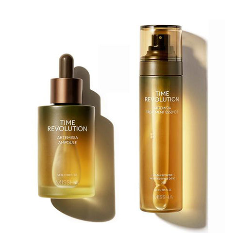 [SET] [Missha] Time Revolution Artemisia Treatment Essence 120ml + Ampoule 50ml