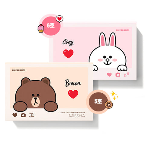 [Missha][LINE Friends Edition] Color Filter Shadow Palette 15g