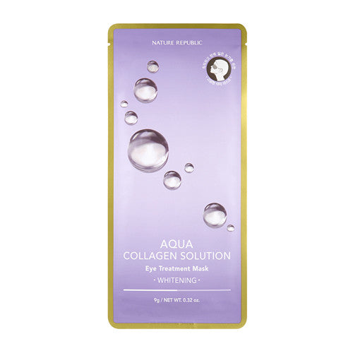 [Nature Republic] Aqua Collagen Solution Eye Treatment Mask - Cosmetic Love