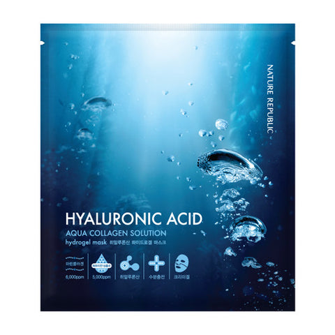 [Nature Republic] Aqua Collagen Solution Hydro Gel Mask- Hyaluronic Acid x 5PCS - Cosmetic Love