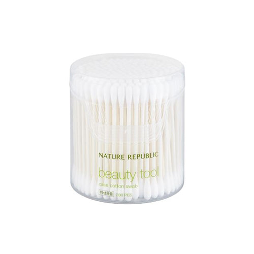 [Nature Republic] Beauty Tool Case Cotton Swabs 200PCS