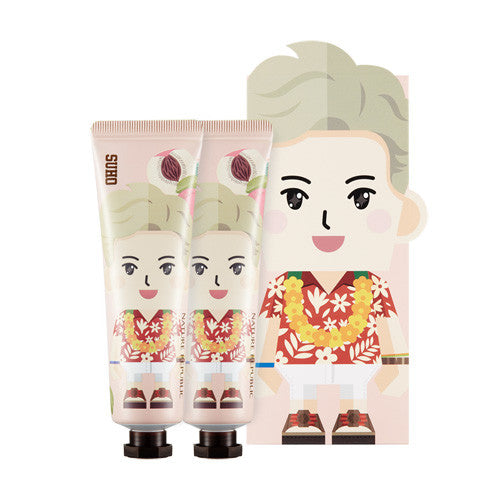 [Nature Republic] EXO Suho Hand And Nature Hand Cream - Peach - Cosmetic Love