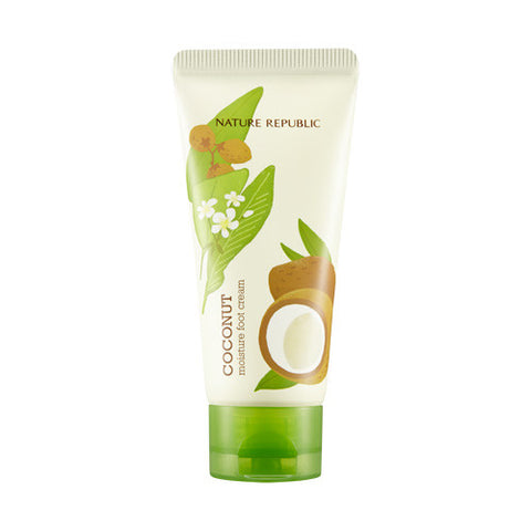 [Nature Republic] Foot & Nature Coconut Moisture Foot Cream 80ml - Cosmetic Love