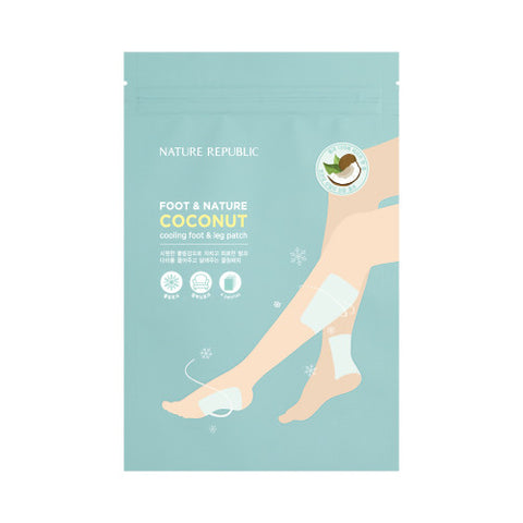 [Nature Republic] Foot & Nature Coconut Cooling foot & Leg patch (4 Patches)