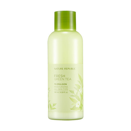 [Nature Republic] Fresh Green Tea 70 Emulsion 180ml - Cosmetic Love