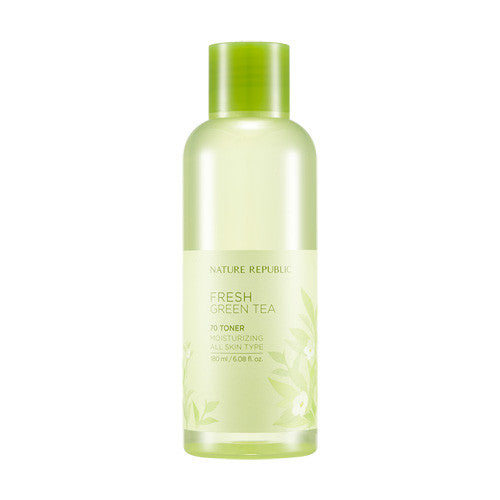 [Nature Republic] Fresh Green Tea 70 Toner 180ml - Cosmetic Love