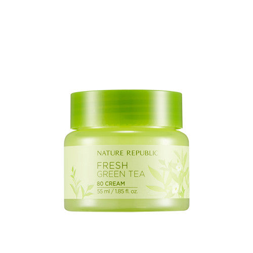 [Nature Republic] Fresh Green Tea 80 Cream 55ml - Cosmetic Love