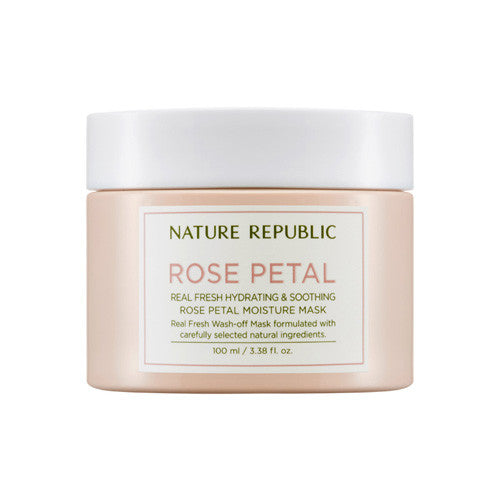 [Nature Republic] Real Fresh Rose Petal Moisture Mask 100ml - Cosmetic Love