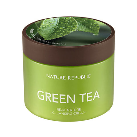 [Nature Republic] Real Nature Green Tea Cleansing Cream 300ml - Cosmetic Love