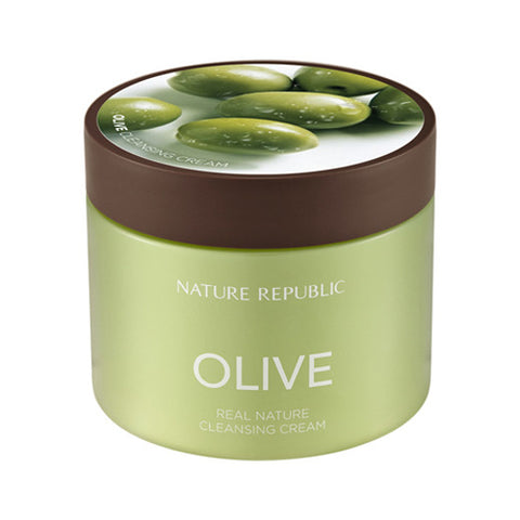 [Nature Republic] Real Nature Olive Cleansing Cream 300ml - Cosmetic Love