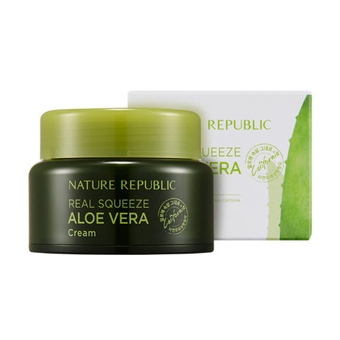 [Nature Republic] Real Squeeze Aloe Vera Cream 50ml - Cosmetic Love