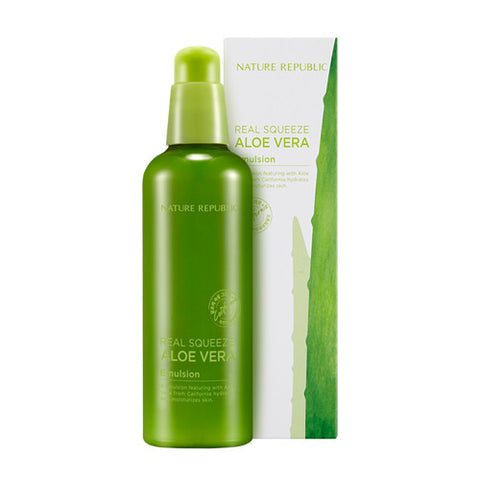 [Nature Republic] Real Squeeze Aloe Vera Emulsion 125ml - Cosmetic Love