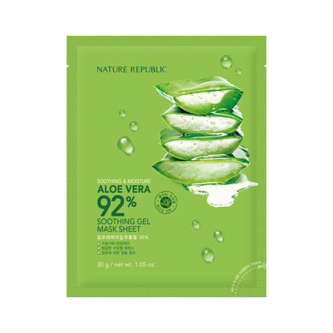 [Nature Republic] Soothing & Moisture Aloe Vera 92% Soothing Gel Mask Sheet 30g