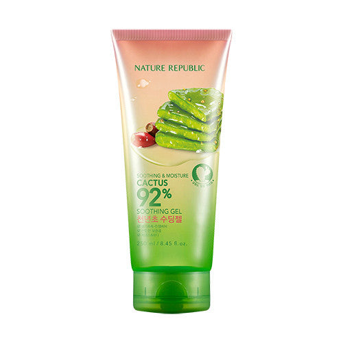 [Nature Republic] Soothing & Moisture Cactus 92% Soothing Gel 250ml - Cosmetic Love