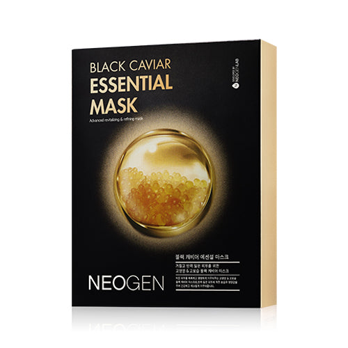 [Neogen] Dermalogy Black Caviar Essential Mask 25ml x 10ea