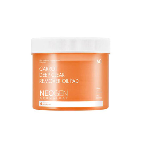 [Neogen] Dermalogy Carrot Deep Clear Remover Oil Pad 60ea