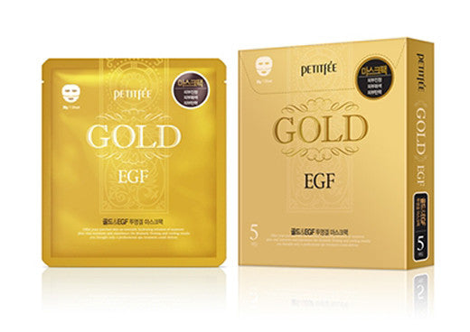 [Petitfee] Gold & EGF Hydro Gel Mask (5Sheets) - Cosmetic Love