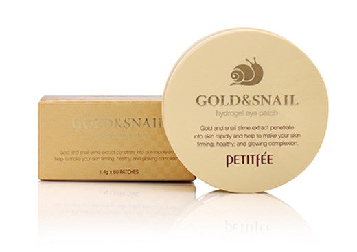 [Petitfee] Gold & Snail Hydrogel Eye Patch (60ea) - Cosmetic Love
