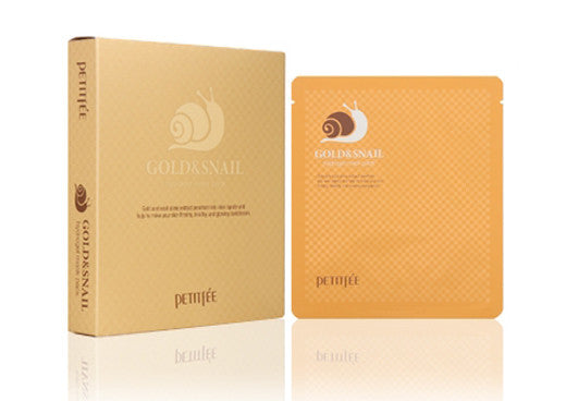 [Petitfee] Gold & Snail Mask Pack (5Sheets) - Cosmetic Love