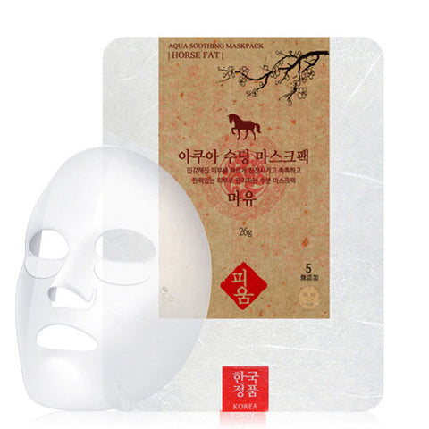 [Pioom] Aqua Soothing Mask Pack-Horse Fat 26g x 3pcs - Cosmetic Love