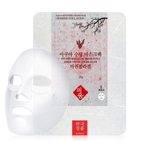 [Pioom] Aqua Soothing Mask Pack-Marine Collagen 26g x 3pcs - Cosmetic Love