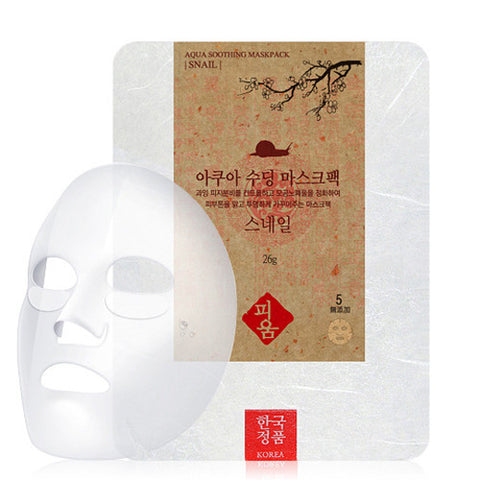 [Pioom] Aqua Soothing Mask Pack-Snail 26g x 3pcs - Cosmetic Love