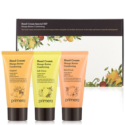 [Primera] Mango Butter Comforting Hand Cream Set - Cosmetic Love