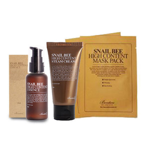 [SET] [Benton] Snail Bee High Content Essence 60ml + Steam Cream 50g + Mask Pack 20gx5 - Cosmetic Love